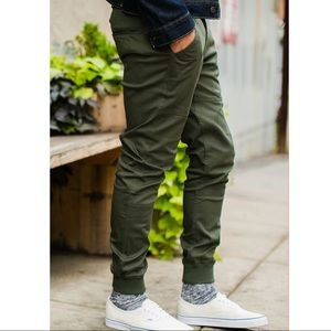 Publish Army Green Joggers 34